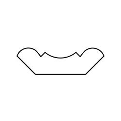 Corniche classique tronquée symétrique